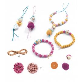 Perle e faccine in legno -...