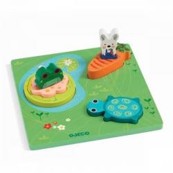 Puzzle - 123 Froggy - Djeco